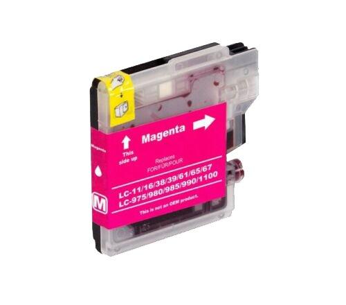 Brother Drucker Tintenpatrone für LC 985/980/1100 MG Magenta