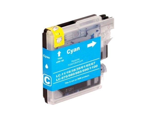 Brother Drucker Tintenpatrone für LC 985/980/1100 CY cyan