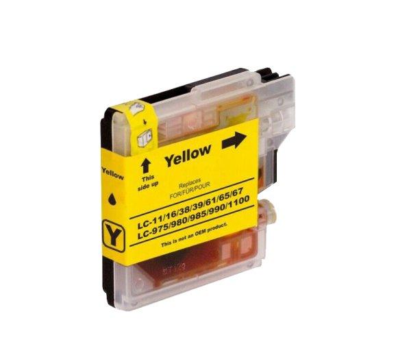 Brother DruckerTintenpatrone für LC 985/980/1100 YE Gelb Yellow
