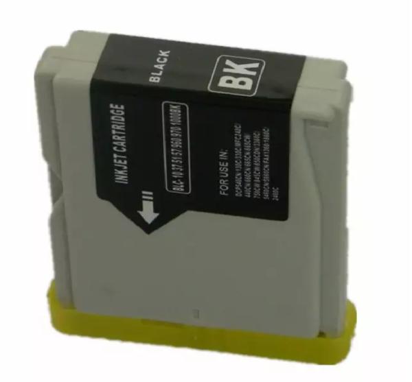 1x Drucker Tintenpatrone BK (schwarz) kompatibel zu Brother Drucker DCP-130C DCP-135C DCP-150C DCP-330C