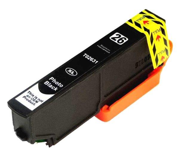 Patrone kompatibel zu Epson Drucker T2631 P-BK