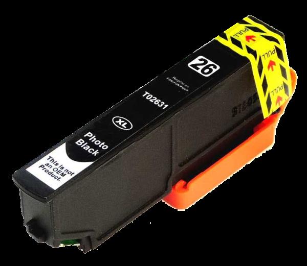 Tintenpatrone komp. Epson T2631 P-BK