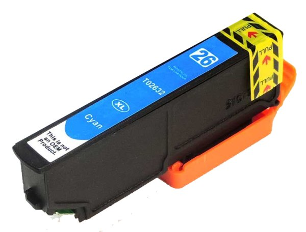 Patrone kompatibel zu Epson Drucker T2632 CY