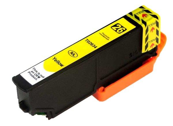 Patrone kompatibel zu Epson Drucker T2634 YE